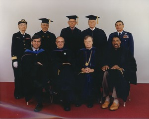 Thumbnail of David C. Knapp, Joseph D. Duffey, Michael S. Dukakis, Grace M. Hopper, Julius             Irving, Au Wang, Sidney Kaplan, Thomas P. Costin, Jr., and Andrew Iosue