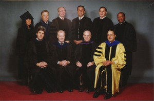 Thumbnail of Joseph D. Duffey in group portrait at Commencement