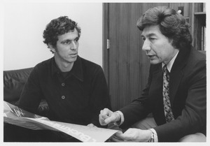 Thumbnail of Mario D. Fantini sitting indoors, talking with Peter Wagschal