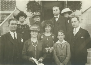 Thumbnail of Charles Anthony Goessmann's family standing outdoors.