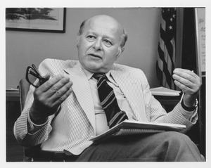 Thumbnail of Henry Koffler sitting in his office