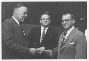 Thumbnail of William Preston MacConnell, Dean Arless A. Spielman, and Russell Renouf