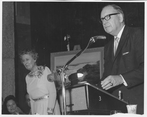Thumbnail of Warren Pierce McGuirk, standing at podium