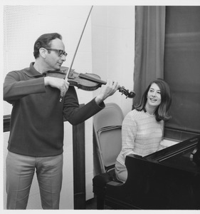 Thumbnail of Julian and Estela Olevsky playing violin and piano