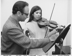 Thumbnail of Julian and Estela Olevsky with violins