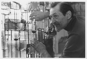 Thumbnail of Lyle Perkins with glass sculpture