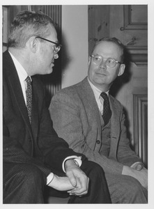 Thumbnail of John W. Lederle and Lamar Soutter in an office