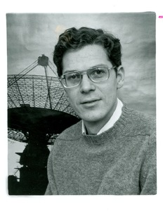 Thumbnail of Joseph H. Taylor, UMass Amherst Professor of Physics and Astronomy, and giant radio telescope