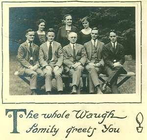 Thumbnail of The  whole Waugh family greets you