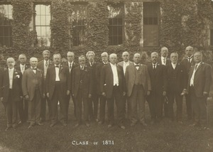 Thumbnail of Members of the Class of 1871 standing in front of Old Chapel