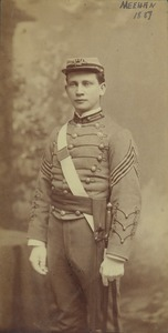 Thumbnail of Thomas F. B. Meehan in uniform, class of 1887