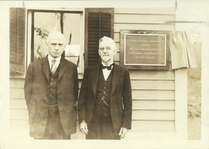 Thumbnail of Jewell B. Knight (class of 1892) and Ephraim P. Felt (class of 1891)