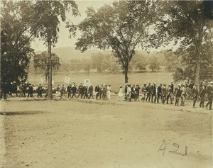 Thumbnail of Members of the class of 1896 marching in procession