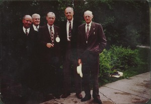Thumbnail of Members of the class of 1905 standing outdoors