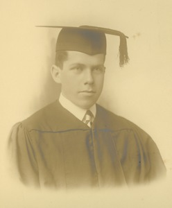 Thumbnail of Peverill O. Peterson in cap and gown