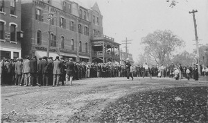 Thumbnail of Group of young men congregating in Amherst Center
