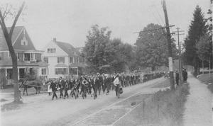 Thumbnail of Class parade on a street