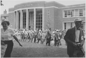 Thumbnail of Class of 1918 reunion in front of Student Union