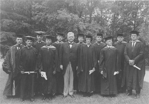 Thumbnail of Graduate School members pose outdoors