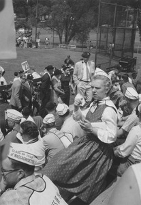 Thumbnail of Class of 1923 and of 1933 alumni at reunion baseball game