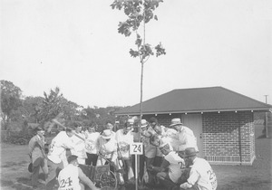 Thumbnail of Class of 1924 planting class tree during reunion