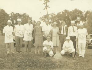 Thumbnail of Class of 1924 with newly planted class tree