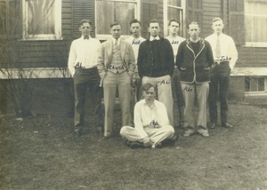 Thumbnail of Members of Lambda Chi Alpha pose outdoors