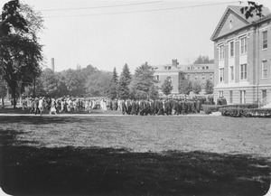 Thumbnail of Graduates gathering at Goessmann Laboratory