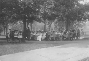 Thumbnail of Summer class in session on campus lawn