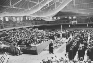 Thumbnail of Graduates receive their degrees in Curry Hicks Cage