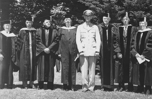 Honorary degree recipients at commencement