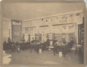 Thumbnail of Students from the class of 1899 in a classroom