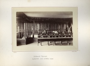 Thumbnail of Botanical Museum, Herbarium and recitation room, Massachusetts Agricultural College