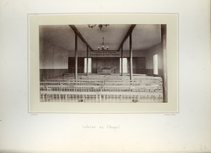 Thumbnail of Interior of Chapel, Massachusetts Agricultural College