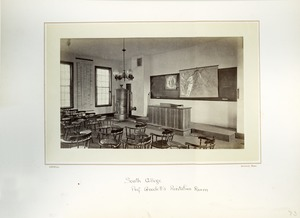Thumbnail of Interior of Prof. Goodell's recitation room, Massachusetts Agricultural College