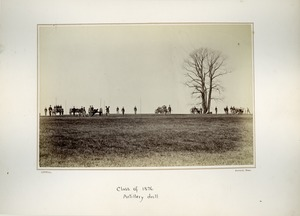 Thumbnail of Class of 1876, artillery drill, Massachusetts Agricultural College