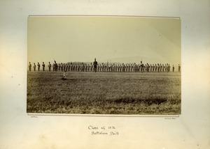 Thumbnail of Class of 1876, Batallion drill, Massachusetts Agricultural College