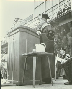 Thumbnail of Gov. John A. Volpe speaking at the Centennial Convocation