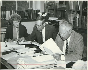 Thumbnail of Prof. Thomas Copeland editing a manuscript