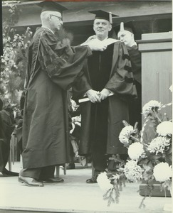 Thumbnail of Richard Gettell at his hooding ceremony during the Centennial Convocation