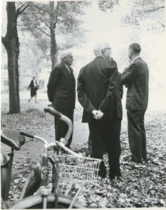 Thumbnail of John J. McCloy, Thomas Mendenhall, and Calvin Plimpton on Convocation Day