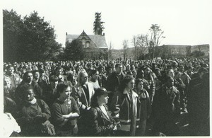 Thumbnail of Large gathering of students