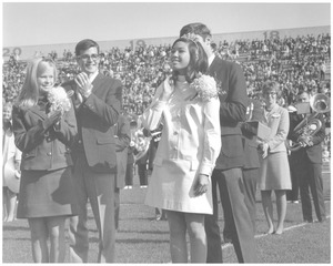 Thumbnail of Homecoming Queen Claudette Fong during Homecoming weekend