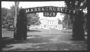 Thumbnail of Entry Arch, decorated for graduation, Class of 1929 19