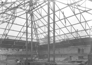 Thumbnail of Physical Education Building construction, interior view 30