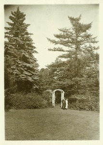 Thumbnail of Rhododendron Garden Arbor by the entrance to the garden