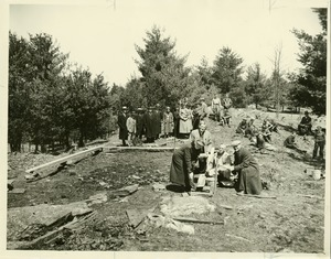 Thumbnail of Laying the cornerstone for Stockbridge Hall