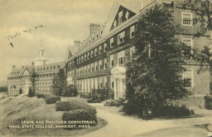 Thumbnail of Lewis and Thatcher dormitories, Mass. State College, Amherst, Mass.