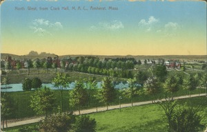 Thumbnail of North west from Clark Hall, M.A.C., Amherst, Mass.