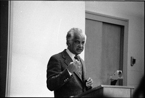Thumbnail of Portrait of Edwin D. Driver, lecturing